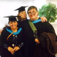 Steve, Amitoj and Kim at Graduation 2016