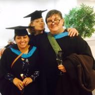Steve, Amitoj and Kim at Graduation 2016
