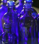This is a photo of empty Neal's Yard blue bottles